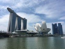 新加坡,小游艇船坞海湾海湾的看法  免版税库存图片