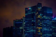 新加坡,新加坡- 2018年1月30日:新加坡地平线室外看法  新加坡有一个高度发展的市场 免版税图库摄影