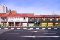 新加坡,新加坡- 2014年5月31日:李的五颜六色的古老房子 库存图片