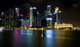 新加坡,新加坡- 2015年7月19日:街市新加坡看法  库存照片