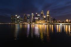 新加坡, 2017年12月10日:Singapores商业区地平线  库存照片