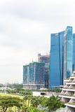 新加坡, 1月2016 14日:小游艇船坞海湾财政区风景  免版税库存照片