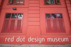 新加坡, 2015年10月13日:红色小点设计博物馆是中心 库存照片