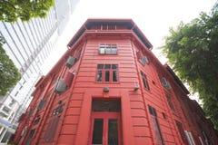新加坡, 2015年10月13日:红色小点设计博物馆是中心 免版税图库摄影