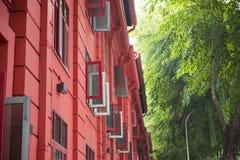 新加坡, 2015年10月13日:红色小点设计博物馆是中心 库存图片