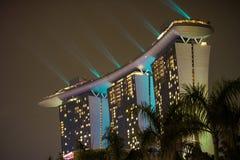 新加坡, 12月20,2013 :新的小游艇船坞海湾铺沙在a的手段 免版税图库摄影