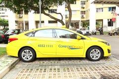 新加坡:出租汽车 免版税库存图片