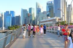 新加坡:周年纪念桥梁 免版税图库摄影
