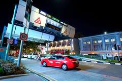 新加坡:电子公路定价 库存照片