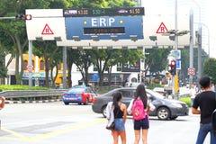 新加坡:电子公路定价 免版税库存照片