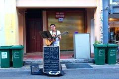 新加坡:街道执行者 免版税库存图片