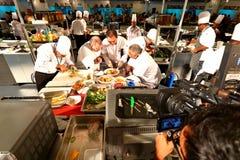 新加坡:食物竞争 库存图片
