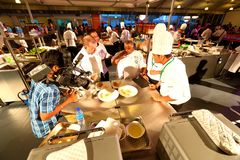 新加坡:食物竞争 免版税库存图片