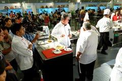 新加坡:食物竞争 库存照片