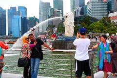 新加坡:Merlion公园 图库摄影