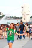 新加坡:Merlion公园 库存照片