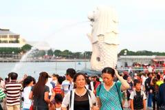新加坡:Merlion公园 免版税图库摄影