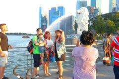 新加坡:Merlion公园 免版税库存照片