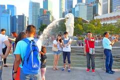 新加坡:Merlion公园 库存图片