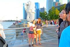 新加坡:Merlion公园 免版税库存图片