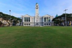 新加坡维多利亚剧院&维多利亚音乐堂 图库摄影