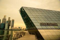新加坡2016年7月11日, :路易斯Vuitt未来派大厦  免版税库存图片