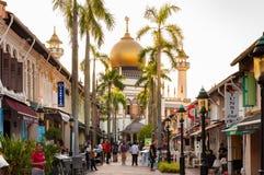 新加坡- 2016年7月05日:北桥路的苏丹清真寺我 库存图片