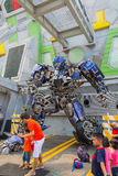 新加坡- 2015年7月20日:变压器乘驾:最后 库存图片
