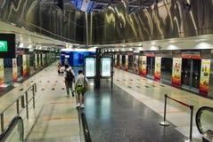 新加坡- 2008年7月12日:城市地铁站 超过2磨房 免版税图库摄影