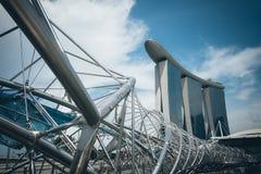 新加坡-2015年7月16日:小游艇船坞海湾铺沙度假旅馆 我 免版税库存图片