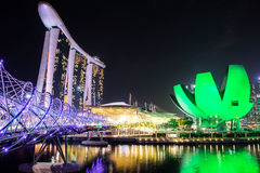 新加坡- 10月29日:2014年10月29日的小游艇船坞海湾在Si 免版税库存照片