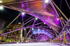 新加坡-10月28日:2014年10月28日的螺旋桥梁寸 免版税库存照片