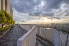 新加坡- 2016年12月14日:从石峰的看法在Duxt 库存照片