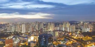 新加坡- 2016年12月14日:从石峰的看法在Duxt 库存图片