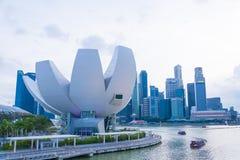 新加坡-2015年7月19日:ArtScience博物馆是一个attra 免版税库存照片
