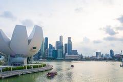 新加坡-2015年7月19日:ArtScience博物馆是一个attra 图库摄影
