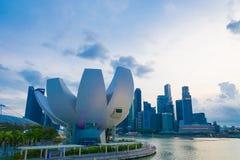 新加坡-2015年7月19日:ArtScience博物馆是一个attra 免版税库存图片