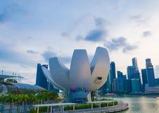 新加坡-2015年7月19日:ArtScience博物馆是一个attra 免版税图库摄影