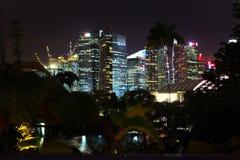 新加坡1月2016 14日-财政区和企业buil 免版税图库摄影