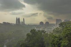 新加坡- 5月21,2016 :新加坡从汉德尔逊波浪的市视图 库存图片