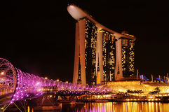 小游艇船坞海湾沙子,新加坡 图库摄影