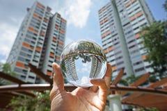 新加坡邻里创造性的看法  免版税库存照片