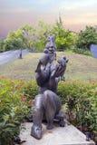 新加坡 雕塑`让那里是和平` 免版税库存照片