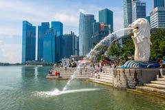 新加坡- Merlion的标志 库存图片