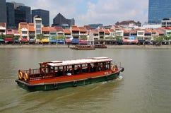 新加坡` s历史的江边 免版税图库摄影
