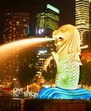 新加坡Merlion喷泉 库存照片