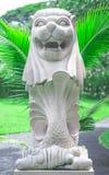 新加坡Merlion模仿在泰国的公园 免版税库存照片