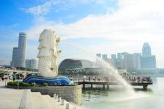 新加坡Merlion 库存照片