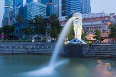 新加坡Merlion  库存图片