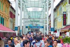 新加坡MRT的唐人街驻地的出口 免版税库存照片